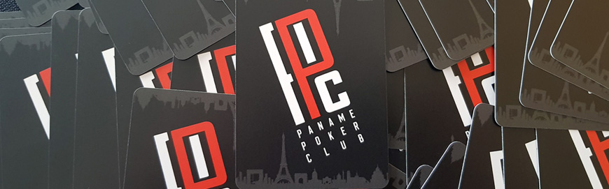 Cut-cards for the Paname Poker Club (Paris)